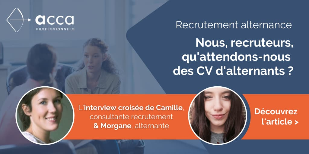 Recrutement alternance : interview Camille consultante recrutement
